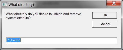 Script: Unhide Network Drive Folders