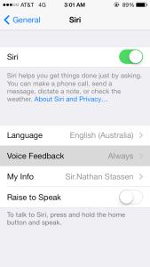 Voice Feedback